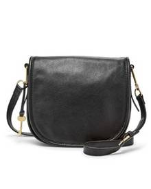 Fossil Rumi Black Leather Handbag ZB7275001