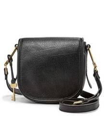 Fossil Rumi Black Leather Handbag ZB7274001