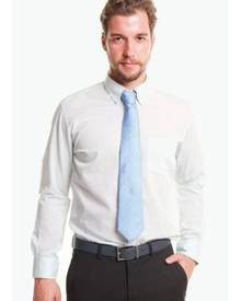 T.M. LEWIN T.M.Lewin Casual Slim Fit Snow Cotton Mint Button-Down Collar Shirt