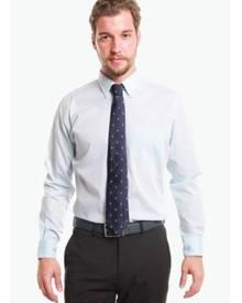 T.M. LEWIN T.M.Lewin Casual Slim Fit Snow Cotton Blue Button-Down Collar Shirt