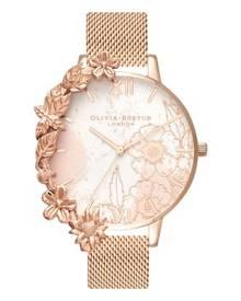 539ade03b Olivia Burton Case Cuffs ROSE GOLD 38mm Women's Watch