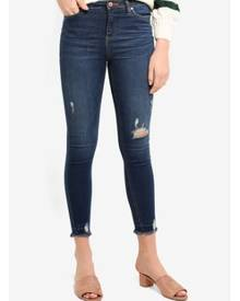 Miss Selfridge Lizzie Skinny Fit Dark Wash Jeans