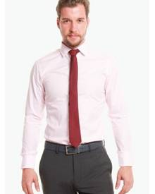 T.M. LEWIN T.M.Lewin Fitted Light Pink Stripe Shirt