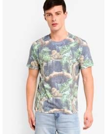 Topman Black Tiger Print T-Shirt