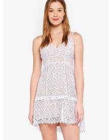 Guess Forbidden Floral Lace Mini Dress