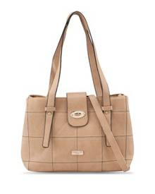 Unisa Quilted Convertible Shoulder Bag With Turn Lock