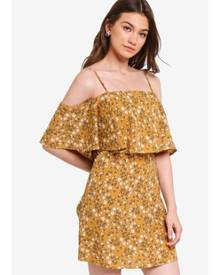 19cfc3c3dd28 Something Borrowed Double Layer Cold Shoulder Dress