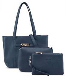 Unisa Pebbled Tote Bag Set Of 3