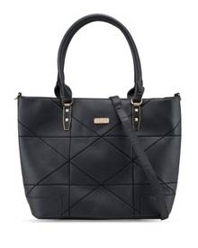Unisa Faux Leather Quilted Convertible Work Tote
