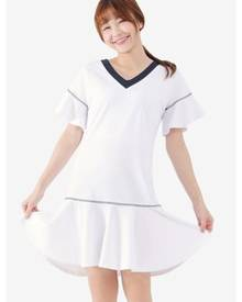 Tokichoi Peplum Hem Dress