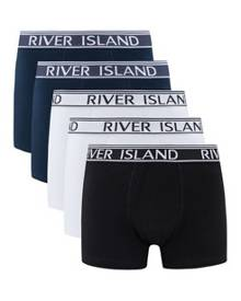 River Island Branded Waistband Trunks Multipack