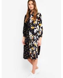 French Connection Aventine Drape Maxi Shirt Dress