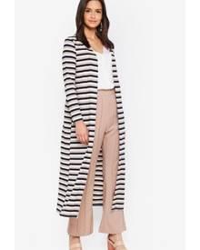 Zalia Metallic Rib Stripes Cardigan