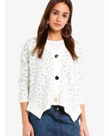 Miss Selfridge Animal Print Soft Touch Knitted Cardigan