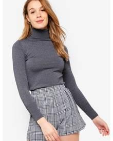 ZALORA BASICS Basic Polo Neck Sweater
