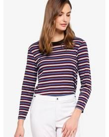ESPRIT Stripe Rib Long Sleeve T-Shirt