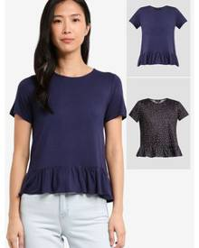 7b2c13f92ea09 Multicoloured Women s Hem T-Shirts - Clothing