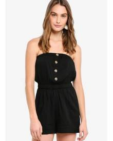 Cotton On Woven Becca Bandeau Playsuit