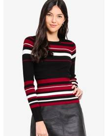 Miss Selfridge Stripe Rib Top