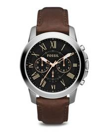 Fossil Grant Chronograph Leather Watch FS4813