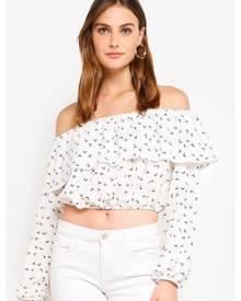 Glamorous Multi Bardot Crop Top