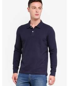 OVS Cotton Long Sleeve Polo Shirt