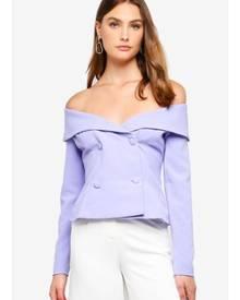Lavish Alice Bardot Double Breasted Tuxedo Jacket