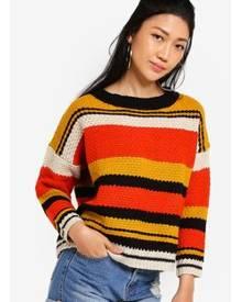 Something Borrowed Block Striped Knit Sweater
