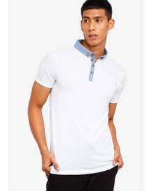 Brave Soul Contrast Collar Polo Shirt