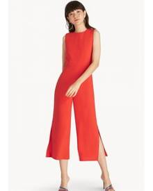 Pomelo Sleeveless Side Slit Jumpsuit - Orange