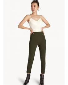 Pomelo Striped Strap V Neck Bodysuit - Gold