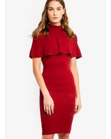 MISSGUIDED Frill Overlay Midi Dress