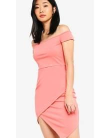 Something Borrowed Off Shoulder Bodycon Dress