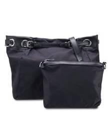 ZALORA. NUVEAU PU-Trimmed Nylon Convertible Hobo Bag Set of 2 f9f031e8261af