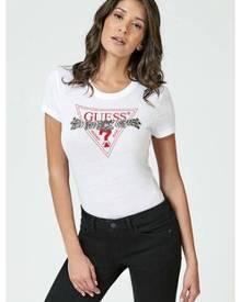 adbab52924557 ZALORA. Guess Embellished Triangle Logo T-shirt