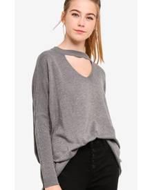 Something Borrowed Choker Detailed Knit Sweater