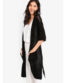 ZALORA Longline Textured Cardigan
