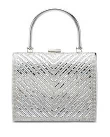 Red s Revenge Shimmer Diamante Encrusted Evening Tote Bag a088430308