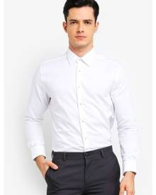 G2000 Collar Detail Dobby Textured Long Sleeve Shirt