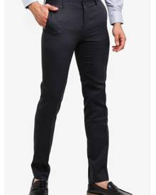 G2000 Poly Textured Herringbone Formal Ultra Slim Pants