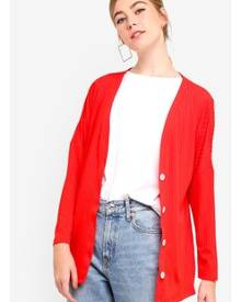 Something Borrowed Buttoned Down Slouchy Cardigan