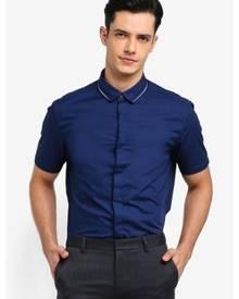 G2000 Stripe Print Short Sleeve Shirt