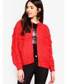 River Island Heart Bobble Chunky Knit Cardigan