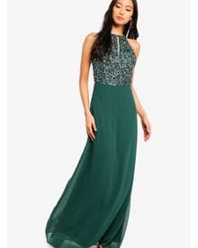 486a1a4d6 Lace & Beads Basia Maxi Dress With Embellished Top