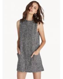 94acd4ee3b2 Pomelo Mini Baby Doll Tweed Dress - Black