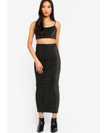 MISSGUIDED Co-Ord Cami Crop Top With Midaxi Skirt