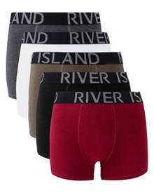 River Island Khaki Classics Trunks