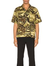 Givenchy Hawaii Shirt in Light Khaki - Camo,Green. Size 40 (also in ).