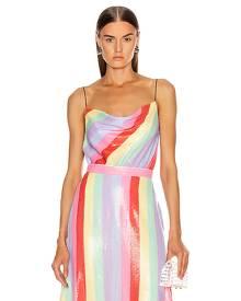 Olivia Rubin Clover Cami in Fall Stripe - Pink,Purple,Stripes. Size 2 (also in ).