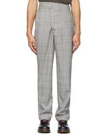 R13 Grey Plaid Crossover Trousers